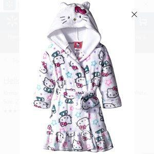 2t Hooded Hello Kitty Robe